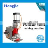 pneumatic button making machine/semi badge making machine
