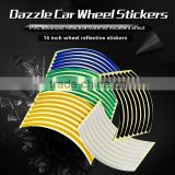 Superior decoration reflective car sticker for wheel rim motorcycle wheel rim sticker                                                                         Quality Choice