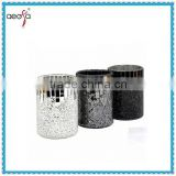 mirrored glass mosaic vases