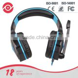 Yes Hope Stereo gaming headphone blue Led lighting headsets PU ear-pad USB 3.5mm with Mic for video game and PC