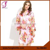 FUNG 3002 New Flower Silk Robes for Bridesmaids