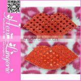 Fashion red lips beauty girls sexy nipple cover