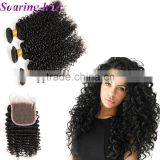 100% human extension ombre weave 22 inch virgin remy curl hair weft hair curly extensions