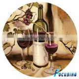 Red wine paper ssticker tempered glass cheese saver