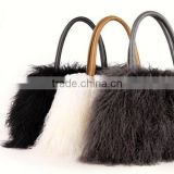 2016/2017 New Products Wholesale Genuine Mongolian Lamb Fur Bag for Elegant Women with Reasonable Price Fur Bag