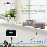 Manufacturer OEM solar charger for mobile phone charging table cellphone charging kiosk