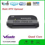 H.265 Android 4.4 A5 Mali-450 youtube iptv DVB-S2 android tv box Amlogic S805 1.5GHZ