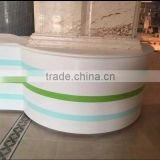 High End Modern Acrylic Solid Surface top,acrylic solid surface Hotel reception counter desk