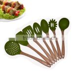 FDA LFGB Food Grade Wholesale Silicone Personalized Kitchen Utensils Set Modern Cooking Tools 2016 Best Selling Products