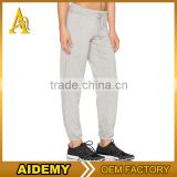 Light Gray Womens Tapered Jogger Pants Blank Cotton Polyester Spandex Sweatpants Full length Leggings Plain Joggers
