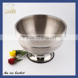 Top quality acrylic led ice bucket wholesale/customized stainless steel ice bucket wholesale