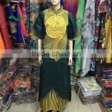2016 Haniye Abaya Wholesale New Design African Bazin Riche Dresses 100% Cotton Dyeing Fabric Textile