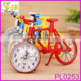 New Quartz Analog Travel Desk Alarm Clock Bicycle Bike Model Battery Operated