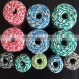 double colored and colorful jute twine for gift packing cooking party wedding decorating and DIY