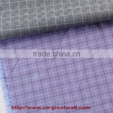 Various type of cotton carded grey fabric 100% cotton fabric woven shirt fabric 100% cotton yarn dyed shirt grey fabric