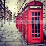 Red antique london public telephone booth decoration for sale made by chinese manufacture