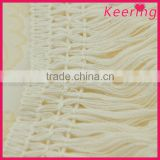 Cheap Lace White Braid Tassel Trimming for sofa WTPB-013
