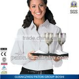 Custom made Factory Price Waitress Uniform BD-483 Hotel Uniform Design Waiter Uniform