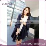 Wholesale womens black pure colors cashmere scarf