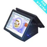 Promotion 15 Inch Dual Screen Restaurant Cash Registers/pos System/cashier Machine Double Touch Screen Retail POS System All In One POS Terminal