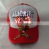 Cotton & poly mesh various color LED Baseball Cap patchwork Party led light Caps Christmas hat