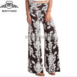 High Quality Summer Casual High Waist Printed Palazzo Wide Leg Sweat Harem Women's Pants