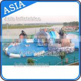 Giant Inflatable Water Park Slides With Swimming Pool, Adults Size Inflatable Water Slides, Commercial Water Park For Sales