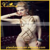 Gold exotic women simple cosplay costume sexy leather lingerie