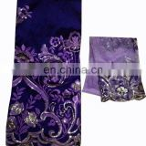 Handwork African Dubai Nigerian Indian Silk George wrappers with stone