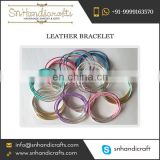 New in Fashion Leather Bracelet for Women Available in Various Multiple Colours