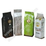 High quality Flat bottom side gusset ziplock bag aluminium foil bag for coffee packaging with valve