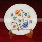Marble Micro Mosaic Inlay Plate Handcrafted Inlay Plate