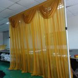 Backdrop event decoration centerpieces pipe and drapes for wedding decoration