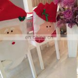 Home Decoration Christmas Chair Seat Cover Mr & Mrs Santa Claus Christmas Kitchen Chair Covers - Dining Chair Slipcovers