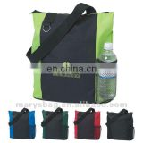 fun tote bag with split ring for keys and carabiner
