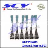Details about 4 x Adapters changing Fuel Injector with for BOSCH EV1 plug to DENSO 2 pin