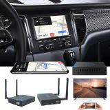 Wireless carplay box vehicle voice navigation multimedia mirror link wifi display dongle receiver