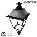 DLC QPL Outdoor Post Lights 50W LED,  100-277vac, 110 LPW and 5 yrs warranty