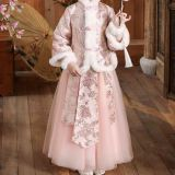 Chinese Elegant Outfit Children's Girl's Clothing Dress Costume Clothes