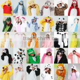 2015 walson wholesale animal costume cheap sexy adult onesie jumpsuit fleece pajamas