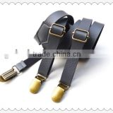 Hot sale high quality leather Men's suspender