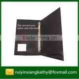 PP material hard cover name card 2 ring binder with name card                                                                         Quality Choice
