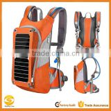 High quality custom solar hydration backpack, OEM solar hydration pack with water bladder