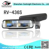 2014 best selling goods 4.3 inch 4 channel Car rearview mirror Car monitor with Reverse camera