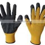 TOP-POLYESTER/NYLON LATEX crinkle GLOVES,WORKING GLVOES