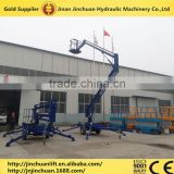 High quality trailer mounted articulated boom lift hydraulic towable cherry picker QYZB-10                                                                         Quality Choice
