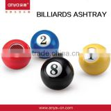 D617 mini billiard balls ashtray with lid pocket ashtray promotion product