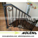 Decorative indoor or outdoor wrought iron spiral stairs/Beautiful Simple Straight Wrought Iron Stair Railing Panels