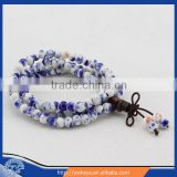 Tibetan Buddhist 108 Beaded Bracelet Porcelain Prayer Beads Wrist Meditation Mala Bracelet