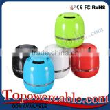 Mini Portable Bluetooth Wireless Speaker With Different Color and Build-in Mic,Support USB/AUX/TF/SD Card
